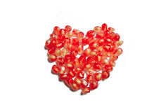 Pomegranate heart Stock Photography