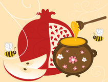 Pomegranate and Honey Royalty Free Stock Image