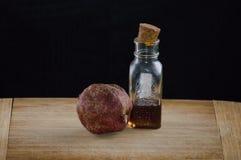Pomegranate and honey royalty free stock photography