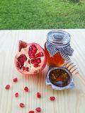 Pomegranate and Honey Stock Photos
