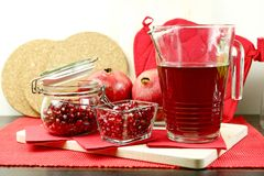 Pomegranate Hot Tea Royalty Free Stock Photos