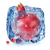 Pomegranate in ice Royalty Free Stock Image