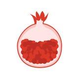 Pomegranate illustration. Garnet icon. Pomegranate. Garnet fruit icon isolated. Modern simple flat vegetarian sign. Fresh Food, internet concept. Trendy natural Royalty Free Stock Photo