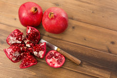 Pomegranate inside. Details of the inside of a fresh pomegranate royalty free stock photo