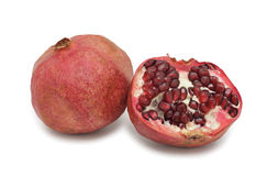 Pomegranate, isolated Royalty Free Stock Images
