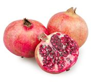 Pomegranate isolated Royalty Free Stock Photography