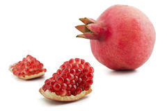 Pomegranate isolated Royalty Free Stock Photos