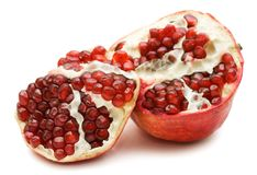 Pomegranate isolated over white Stock Photo