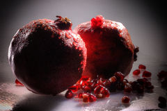 Pomegranate isolated Stock Photos