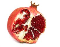 Pomegranate isolated on white Royalty Free Stock Photography