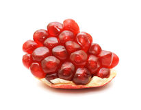 Pomegranate isolated on white Royalty Free Stock Image
