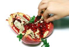 Pomegranate, isolated on white stock photo