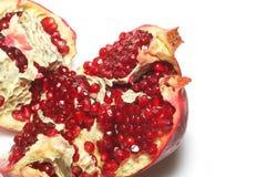 Pomegranate, isolated on white royalty free stock photo