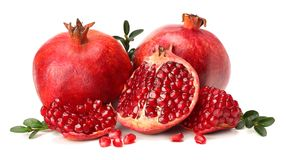 Pomegranate isolated on white background royalty free stock photo