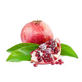 Pomegranate isolated on white Royalty Free Stock Photo