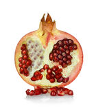 Pomegranate isolated on a white Stock Photos