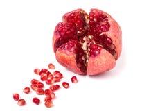 Pomegranate isolated on white background. One pomegranate isolated on white background. Best quality studio photo stock image