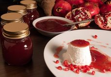 Pomegranate jam Royalty Free Stock Photography