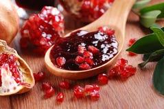 Pomegranate jam royalty free stock photos