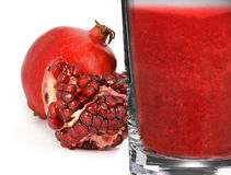Pomegranate juice. Royalty Free Stock Photo