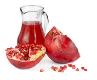Pomegranate and juice Royalty Free Stock Photo