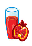 Pomegranate juice. Stock Image