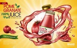 Pomegranate juice ad Royalty Free Stock Image