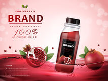 Pomegranate juice ads vector illustration