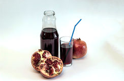 Pomegranate juice. stock photos