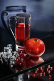 Pomegranate juice and crushed ice Stock Image