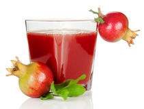 Pomegranate juice and fruits Royalty Free Stock Images