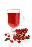 Pomegranate juice in a glass and fresh fruit Stock Image