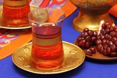 Pomegranate juice. Glass of pomegranate juice with fresh fruits Stock Photography