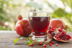 pomegranate juice Stock Photography