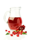 Pomegranate juice in a glass jar Royalty Free Stock Photo