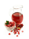 Pomegranate juice in a glass jar Stock Image