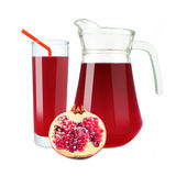 Pomegranate juice Stock Image