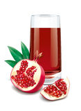 Pomegranate  juice illustration Royalty Free Stock Image
