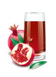 Pomegranate  juice illustration Royalty Free Stock Photo