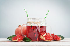 Pomegranate juice Royalty Free Stock Photography