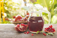pomegranate juice Stock Photo