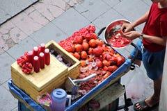 Pomegranate juice kiosk Royalty Free Stock Photography