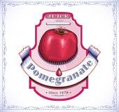Pomegranate juice label Stock Image