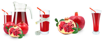 Pomegranate juice and meter Royalty Free Stock Photo
