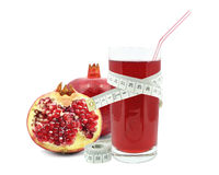 Pomegranate juice and meter Stock Photos
