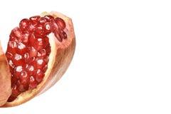 Pomegranate juice. Open fruit. Eating bright tasty food