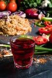 Pomegranate juice organic fruit fiber potassium Stock Photography
