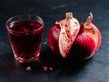 Pomegranate juice organic fruit fiber potassium Royalty Free Stock Photo