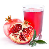 Pomegranate juice with pomegranate Royalty Free Stock Images