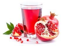 Pomegranate juice with pomegranate Stock Image